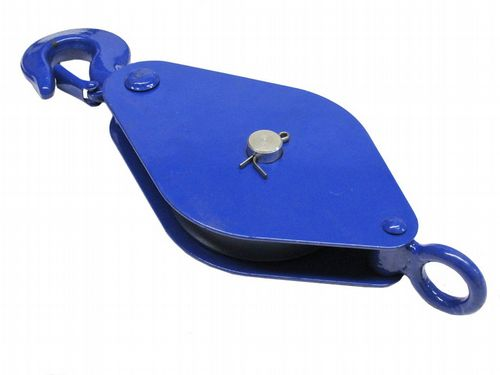 0.25 Ton 75MM London Pattern Pulley Block With Safety Hook - 12MM Wire Rope Safety Lifting Tested
